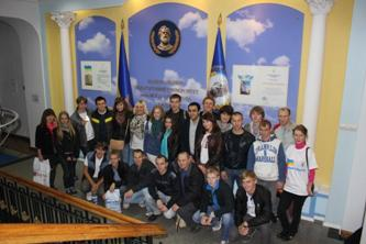 105. Delegation of MPEI students and staff in the Dragomirov National Pedagogic Institute (Ukraine)