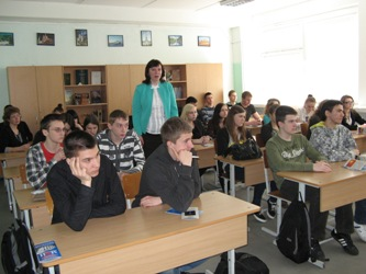 131. MPEI engineer participates presentation in the school named Sofia Kovaleskaya in Vilnuis
