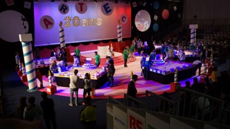 135. During competition in robotics EUROBOT, France