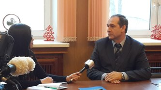 173. MPEI Vice-Rector V. Zamolodchikov during exclusive interview to Vietnem Television