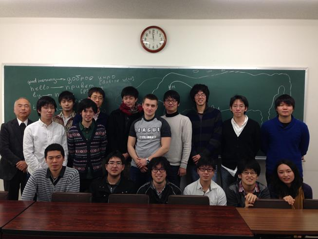 179. MPEI master-student A. Akentiev (in the center) with Japanese students of TUS