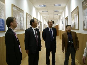 18. Delegation of North-China Electrical Power Engineering University at the MPEI Department of Electrical Power Systems. From left to right: head of MPEI Department of International Cooperation Tarasov A.E.; President of Chinese University professor LIU Jizhen, professor XU Hong, professor CHEN Lei, Deputy Director of Physics-Mathematical Faculty, MPEI graduate