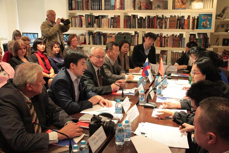 182. Final meeting at Russian Cultural Center in Beijing (PRC)
