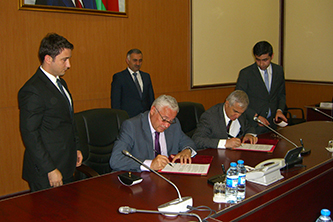 202. Signing of cooperation agreement between Fund of development of human resources at the Ministry of Communications and High Technologies of the Azerbaijan Republic and MPEI