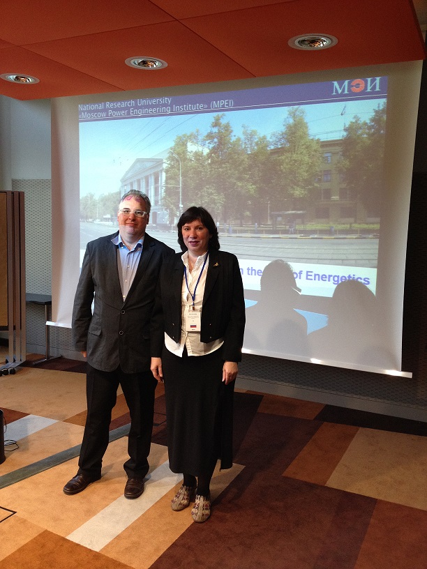 220. MPEI representative Irina KULIK with Head of World Educate Business Association (WEBA) Richard AFFOLTER during presentation of MPEI at Agents Conference and Workshop - WEBA 2014, Munich, Germany