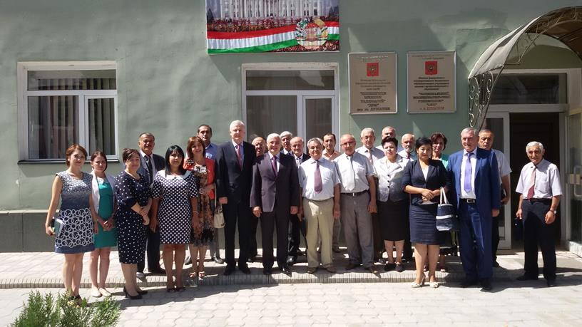 226. MPEI Rector at MPEI branch in Dushanbe