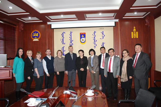 237. Delegation of Russian Universities at Mongolian University of Science and Technology.