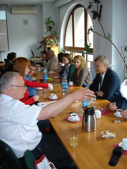 24. MPEI students during the meeting with the Dean of Wroclaw Technical University (Poland) professor M. Chorowski