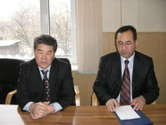 49. Rector of KGTU Duishenaliev T.B. (left) and Dean of MPEI-KGTU Faculty Kadyrov Ch.A.