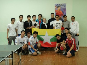 77. The students team from Union of Myanma (in the center Assistant of MPEI Vice-Rector Mdm, L. Lyashenko