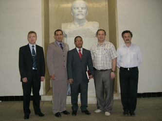 89. Delegation of Bolivar Republic of Venezuela in MPEI. In the center: Minister-Advisor for Energetic of the Embassy Hoglys Jesus Martinez Nunez, second on the left – Embassy Advisor, Director of Latin America Cultural Center named after Simon Bolivar Marco Antonio Gil Casanova