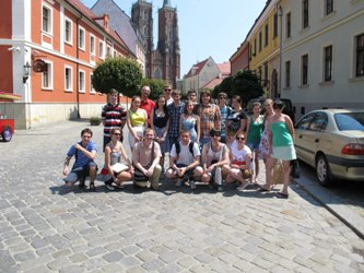 "95. Winners of MPEI competition ""The best educational group-2011"" in Wroclaw"