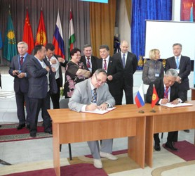 99. The procedure of signing the Memorandum of Universities of the Russian Federation and the Republic of Kirgizia about establishment of Russia-Kirgizian Consorcium of Technical Universities, Bishkek, October 9th, 2012